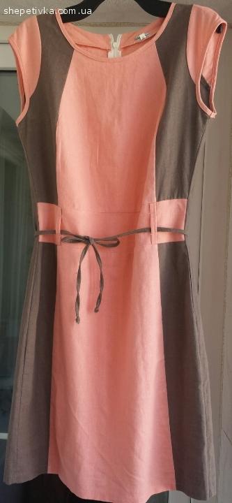 Легка літня жіноча сукня персикового кольору Розмір 46