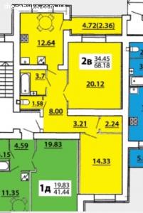 Продам 2х кімнатну квартиру в м.Хмельницькому