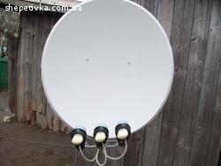 Продам супутникову антену та тюнер все б.у.