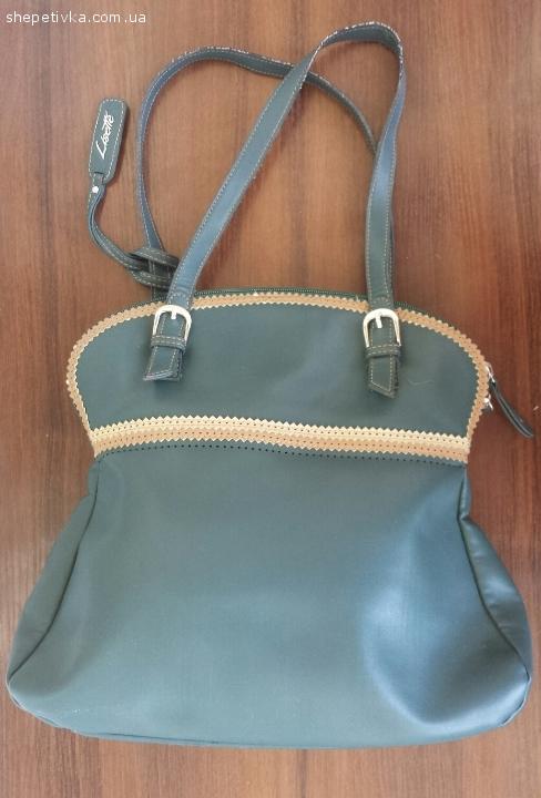 Стильна сумочка смарагдового кольору Lisette (Франція)