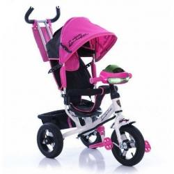 Велосипед детский трехколесный Бело Розовый Azimut AIR