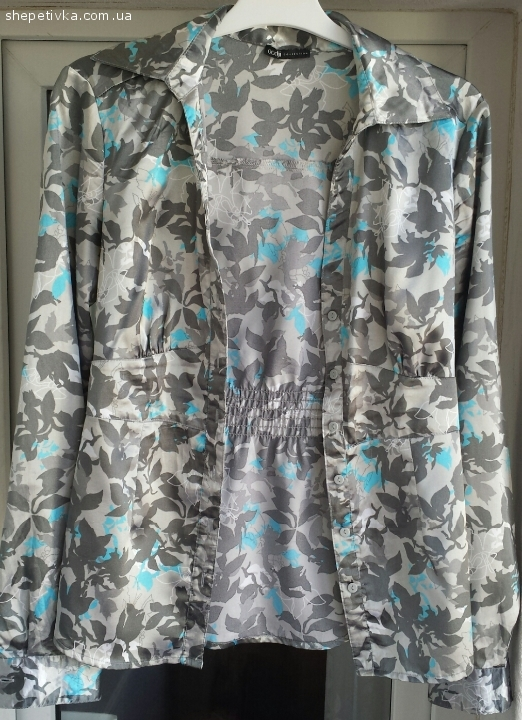 Жіноча атласна блуза OODJI. Розмір 38
