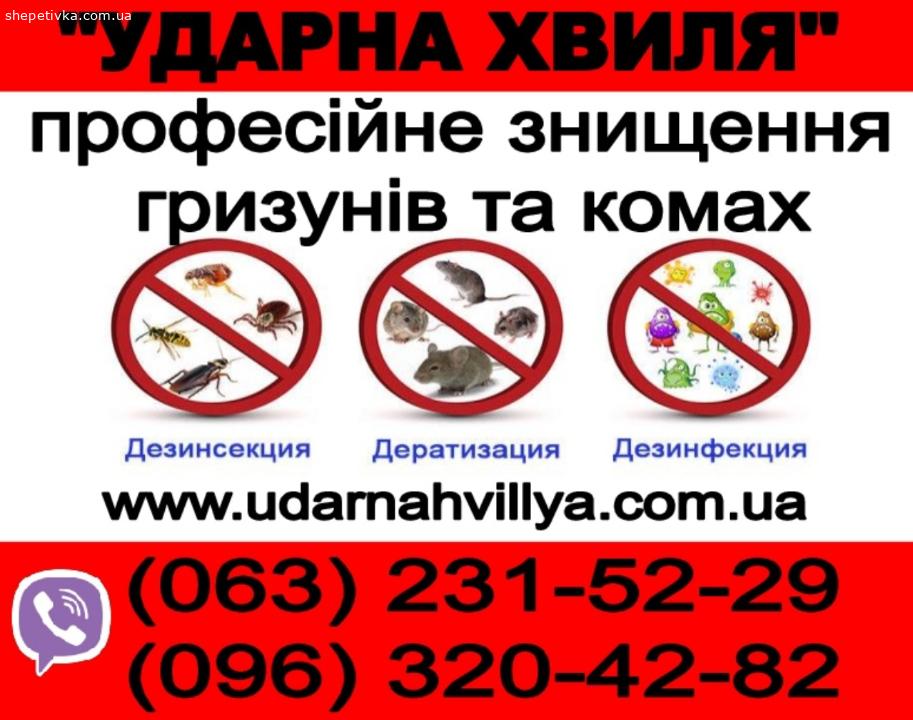 ЗНИЩЕННЯ Комах та Гризунів.