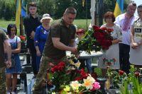 До п'ятої річниці загибелі Ігоря Ляшенка зібрались рідні, близькі та бойові побратими
