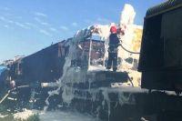 Рятувальники провели навчання з ліквідації наслідків аварії на залізниці