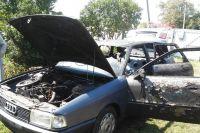 У Судилкові люди гуртом загасили пожежу автомобіля