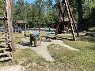 Лісівники проводять реконструкцію в зоні відпочинку «Лісовий кордон»