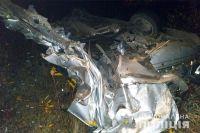 У Михайлючці потяг розчавив автомобіль «Шкода Октавія»